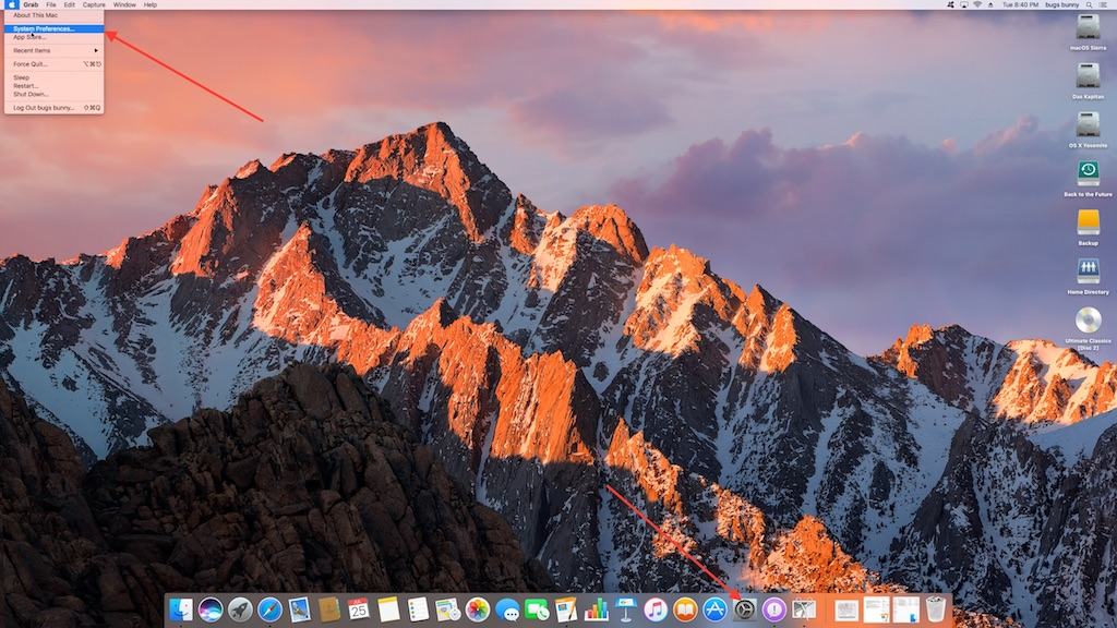 14 Where to find the System PReferences on the desktop