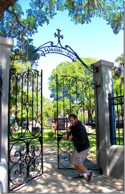 Scott Entering Gate