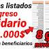 Nuevos Listados Ingreso Solidario $800.000 pesos familias pendientes cobro