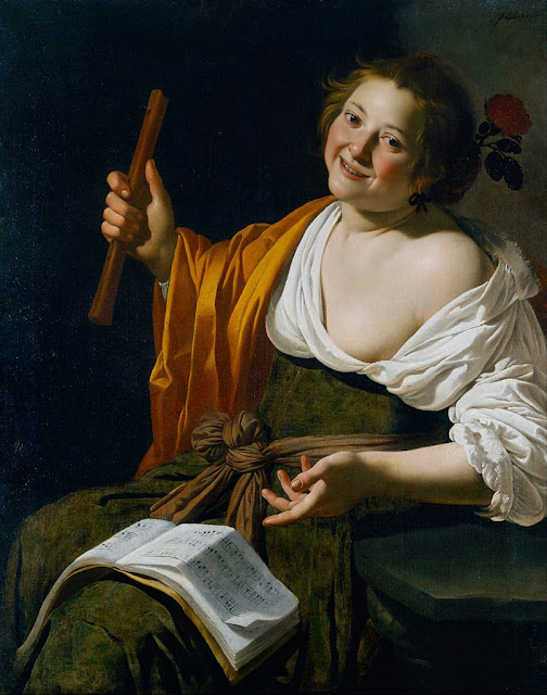 Jan van Bijlert - Girl with a flute