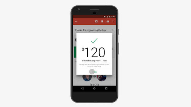 You Send And Receive Money Through Gmail App for Android