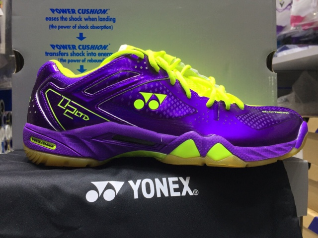 Yonex Shb  Limited Edition Badminton Shoe Purple Yellow Reviews