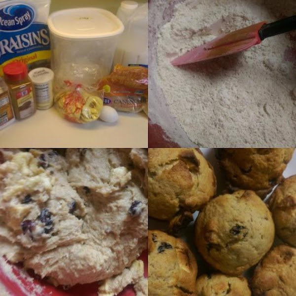 Chunky Dried Apple And Cranberry Muffins Recipe