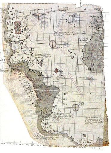 Mapa com as Américas e a Antártida por Piri Reis
