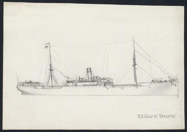 Grabado del vapor GULF OF TARANTO. Allan C. Green Collectión. State Library of Victoria. La Trove.tif