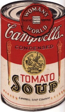 Campbell's Tomato Soup Die-cut undated