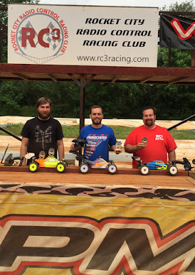 1:8 Electric Buggy - 1st: Blake Boggs, 2nd: Spencer Glasgow, 3rd: Daniel Myers, TQ: Spencer Glasgow