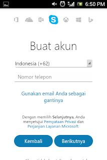 Cara membuat akun Skype di android