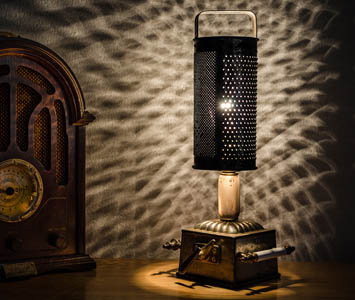 Cheese Grater Table Lamp