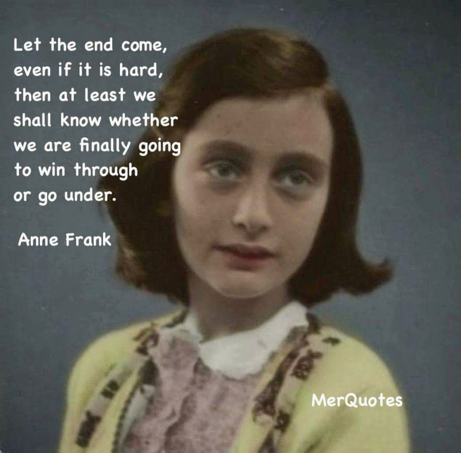 Very pity anne frank quote