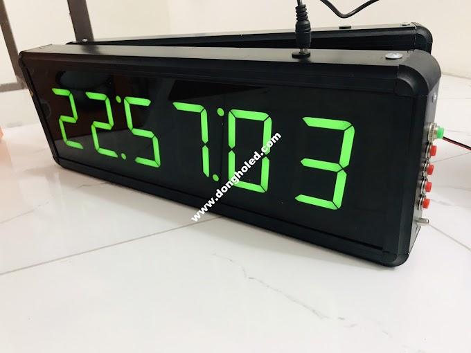 Đồng hồ led treo tường 6 số lớn thời gian thực