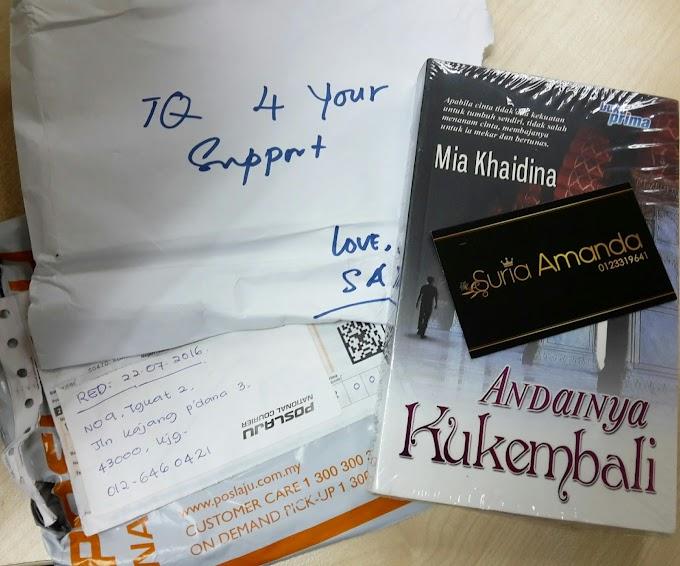 Terima Kasih Sahabat Blogger Suria Amanda !