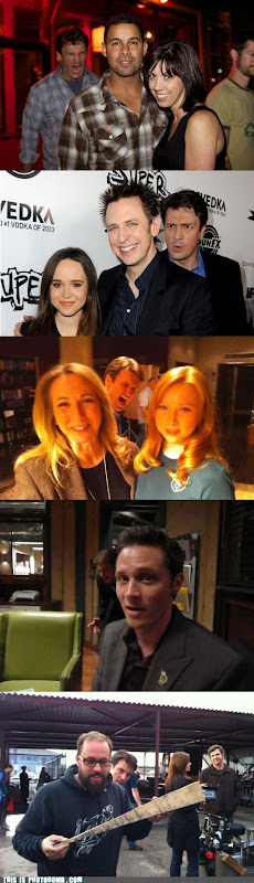 Nathan Fillion photo bombing.
