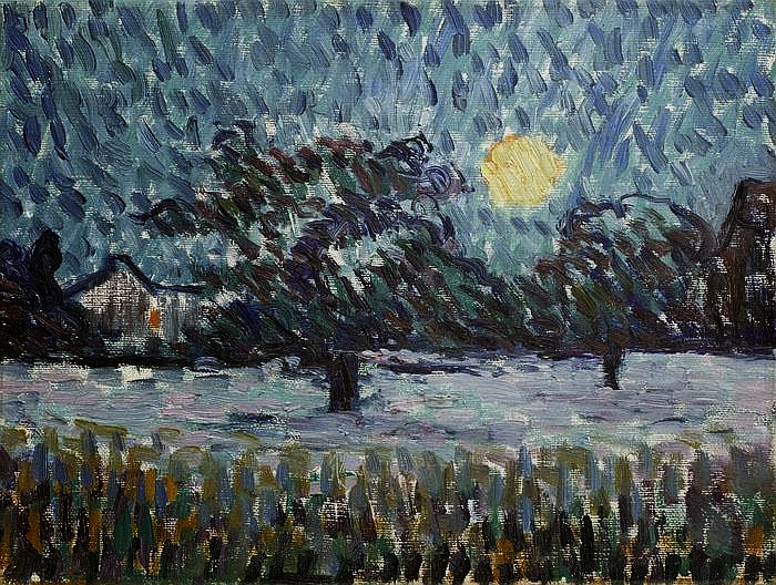 Giovanni Giacometti - Winter Night