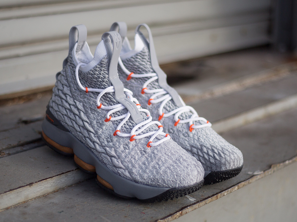 e8098ddf31ca3 Available Now  Nike LeBron XV GS  Safety Orange