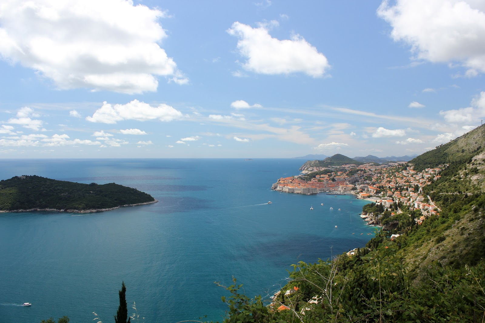 Looking North towards Dubrovnik