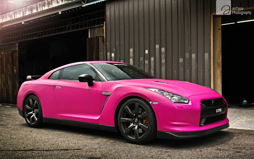 Pink Nissan GTR Car