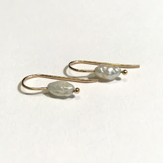 14K Gold and Seed Pearl Earrings