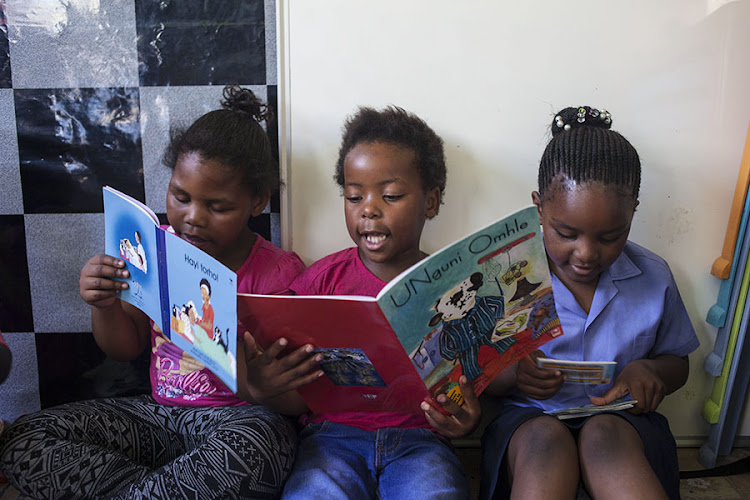 Young members of Nal'ibali's children's reading group.