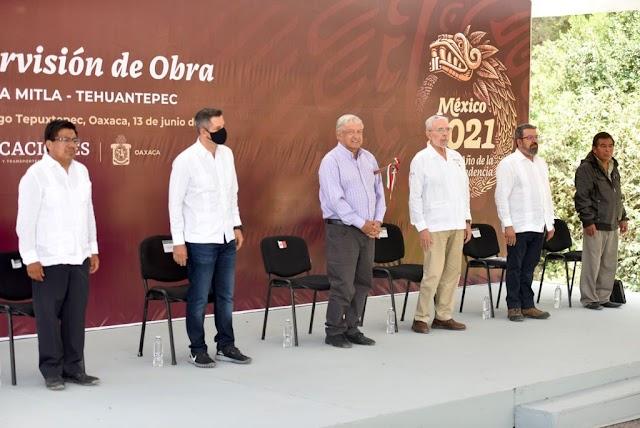 REALIZA SCT 158 OBRAS CON UNA INVERSIÓN DE MÁS 4 MMDP PARA VÍAS DE COMUNICACIÓN EN ESTADO DE OAXACA