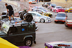 Drift cars pit area
