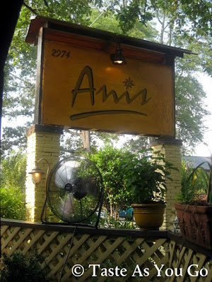 Sign for Anis Cafe & Bistro in Atlanta, GA - Photo by Michelle Judd of Taste As You Go