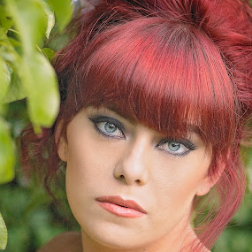 piercing eyes by Melissa Marie Gomersall - People Portraits of Women ( bright, stunning, hair, eyes,  )