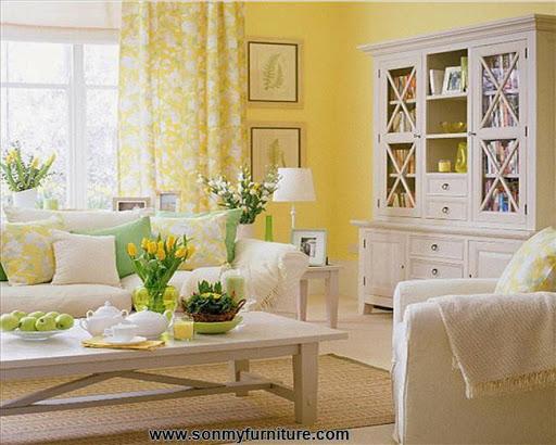 Phòng khách tươi mới đón mùa xuân hè_tin tức nội thất-4