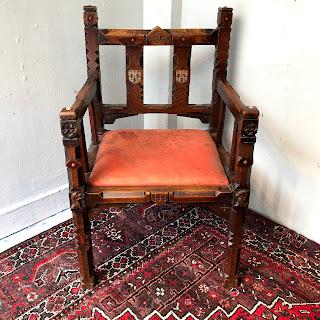 Tudor Revival Style Armchair