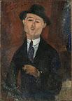 Amedeo Modigliani: Paul Guillaume, Novo Pilota, 1915, olaj, karton, 105 × 75 cm (Fotó: Musée de l'Orangerie, Párizs, Jean Walter és Paul Guillaume gyűjteménye/MNG)