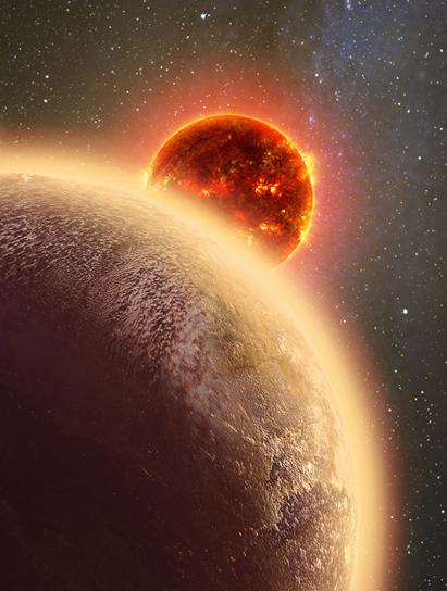 ilustração do exoplaneta GJ 1132b