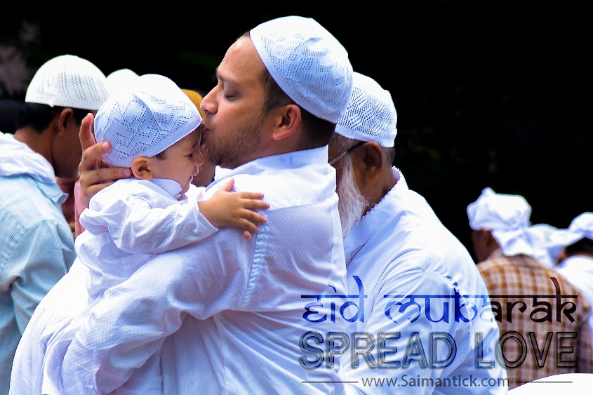 Eid-al-Fitr, Eid-ul-Fitr, Eid, Id, Celebration, Religion, Muslim, Happiness, Love, Red road, Kolkata, maidan, cute, baby, cute baby, kiss, cute kiss, father love