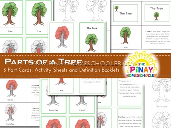 Montessori Inspired Parts of a Tree Nomenclature Cards and Definition Booklet