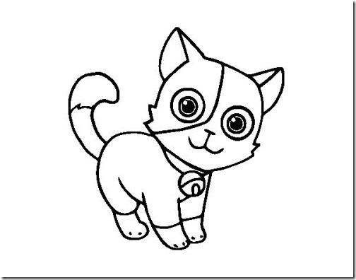 gato a colorear pintaryjugar  (12)