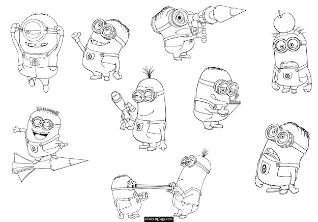 Coloring Pages Minion Coloring Pages Printable