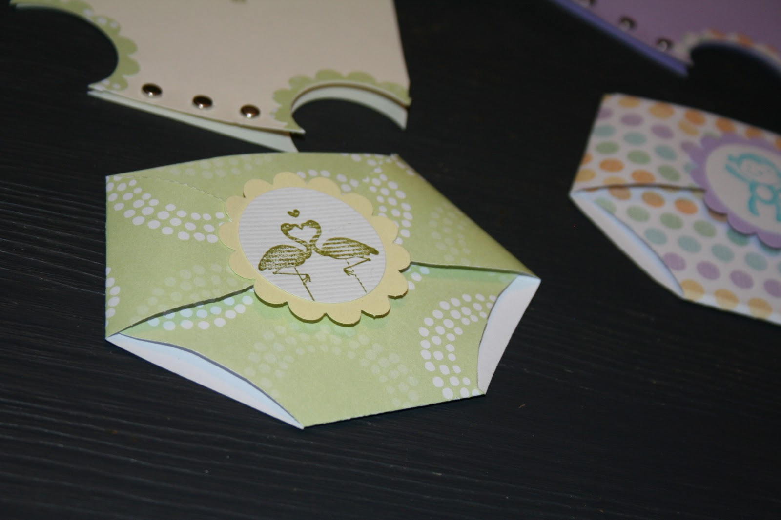 Tea For Three Crafts And Gifts Onesies And Diaper Cards