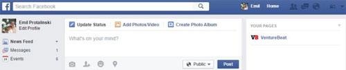 Hình 2 - Những phím tắt sử dụng Facebook trên trình duyệt Web