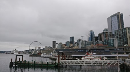 Seattle from the ferry dock