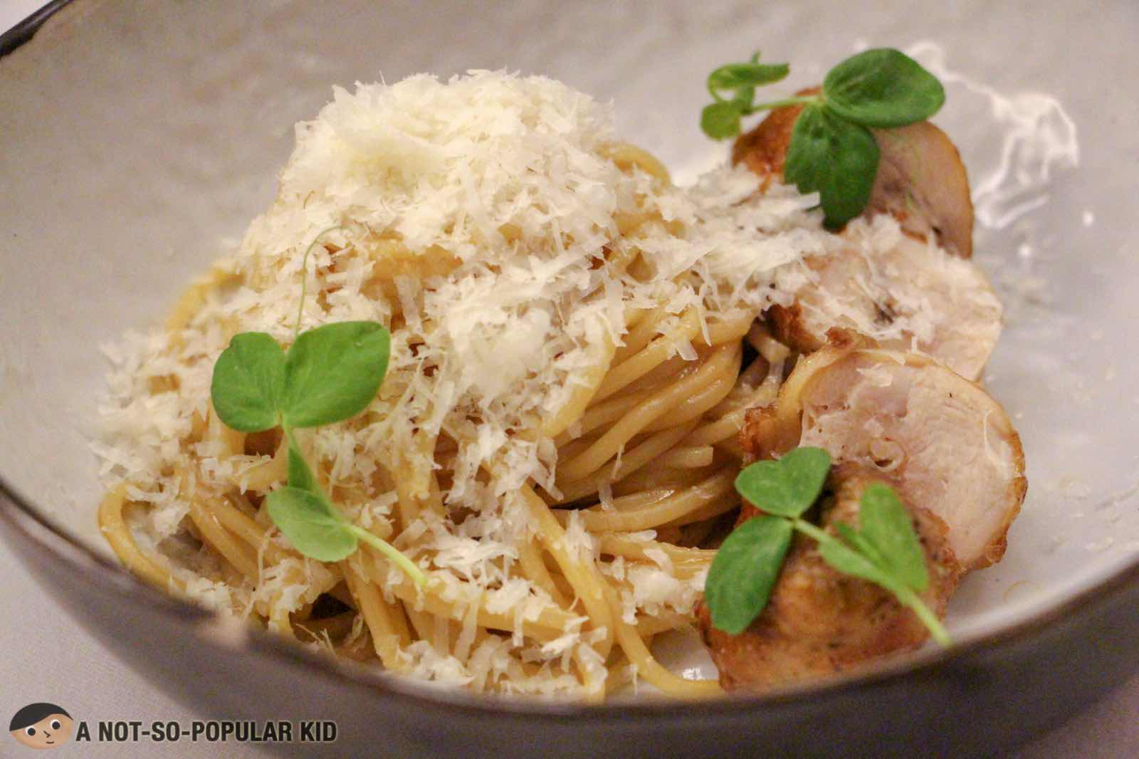 Pressed Chicken Pasta of FOO'D by Davide Oldani