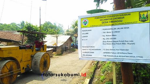 Dana Desa Tahap III, Desa Cimanggu - Cikembar Bangun Jalan