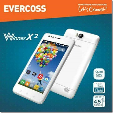 Evercoss Winner X2 A74R, Smartphone Quad Core dengan Android KitKat