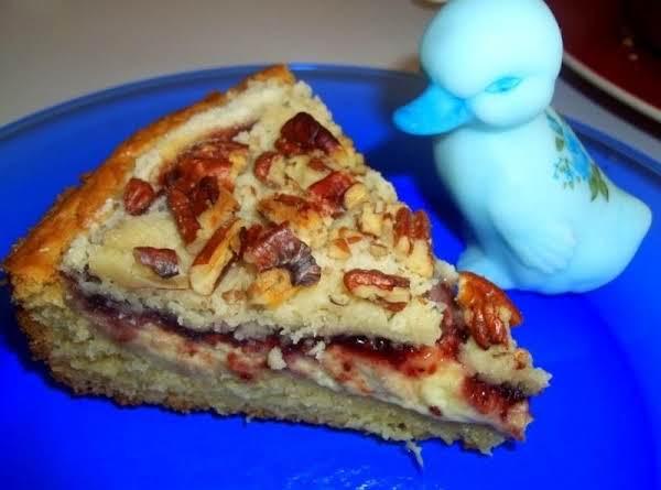 Cream Filled Raspberry Coffee Cake