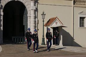 Guards outside the Palais Princier