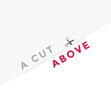 A Cut Above Salon - Logo Template
