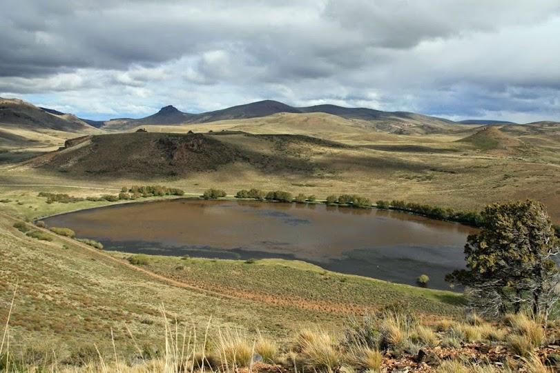 Vista desde Cerro Elefante a la Laguna de los Juncos