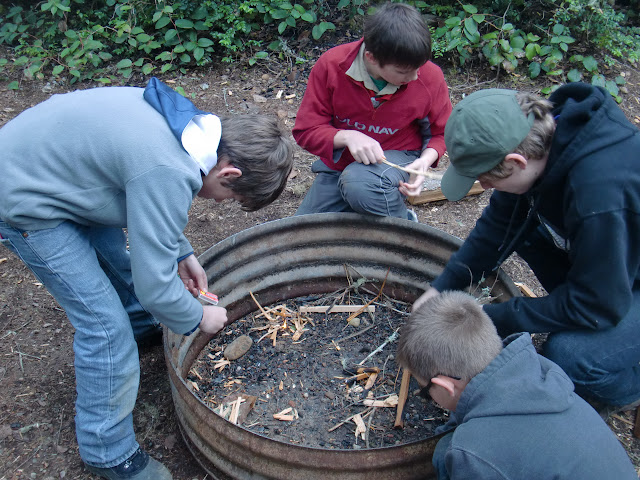 Learning to build a fire...