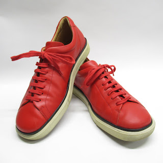 Bally Red Leather Sneakers