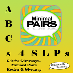 ABCs 4 SLPs: G is for Giveaways - Minimal Pairs Review and Giveaway image
