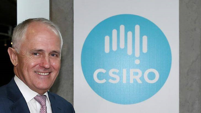 Australia Prime Minister Malcolm Turnbull during a visit to CSIRO in December 2015. Photo: Alex Ellinghausen