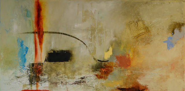 'Lighting Fire' 18x36 Oil on canvas NFS